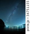 宮古湾の夜景と天の川 34751155