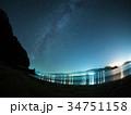 宮古湾の夜景と天の川 34751158