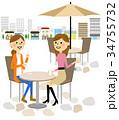 友達 おしゃべり 会話のイラスト 34755732