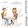 友達 おしゃべり 会話のイラスト 34755733