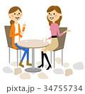 友達 おしゃべり 会話のイラスト 34755734