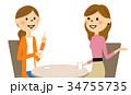 友達 おしゃべり 会話のイラスト 34755735