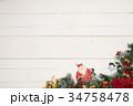 クリスマス サンタクロース 雪だるまの写真 34758478