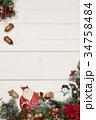 クリスマス サンタクロース 雪だるまの写真 34758484