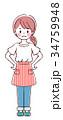 女性 エプロン ベクターのイラスト 34759948