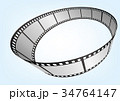 特寫電影 / 攝影 35mm 底片模板,向量3D元素 34764147
