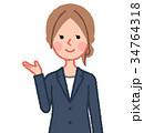 女性 人物 スーツのイラスト 34764318