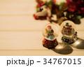 クリスマス スノードーム サンタクロースの写真 34767015