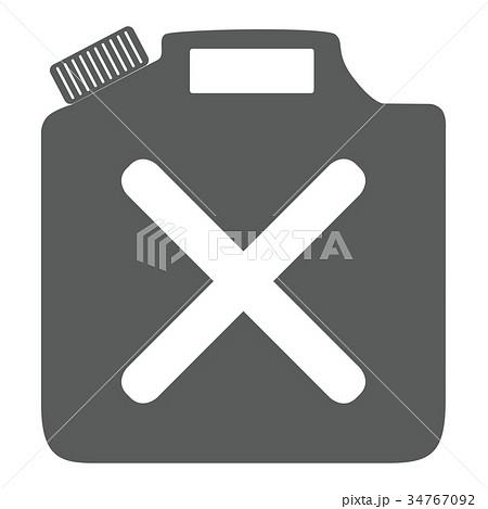 灯油缶 ガソリン イラスト アイコン ベクター 34767092