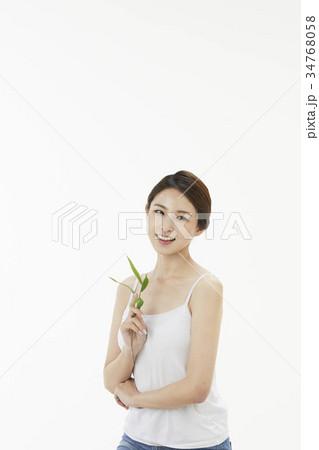 東洋人 若い女性 若い女 34768058