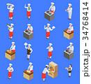 シェフ クッキング アイコンのイラスト 34768414