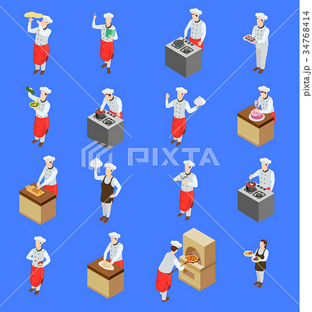 Cook Characters Icon Set 34768414