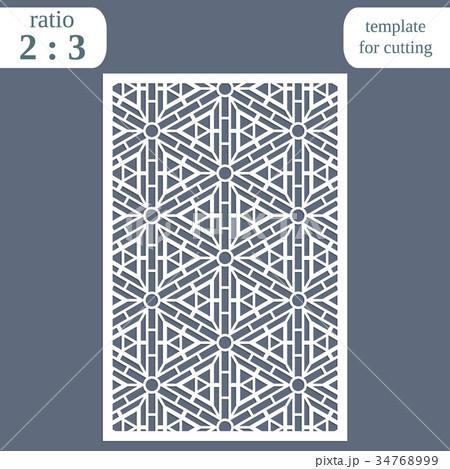 Laser cut wedding card template 34768999