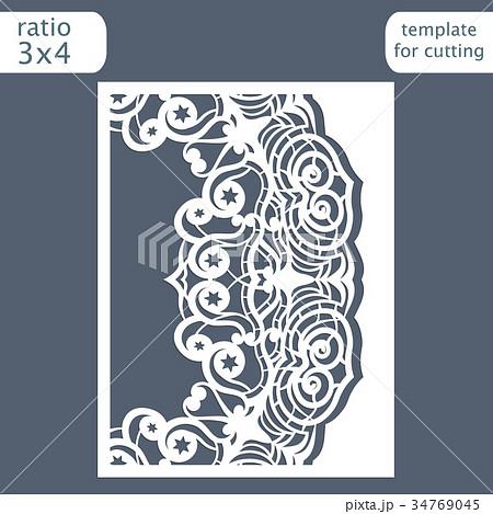 Laser cut wedding invitation card template 34769045