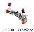 Multi link front SUV car suspension, with brakes.  34769272