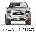 Suv front suspension system in ghost. Front view. 34769273