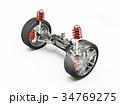 Multi link front car suspensions. 34769275