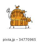ねこ ネコ 猫のイラスト 34770965