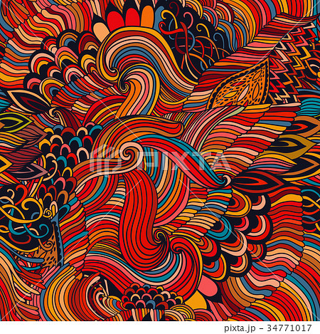 Seamless pattern abstract background with colorful 34771017