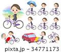 女性 美容部員 自転車のイラスト 34771173