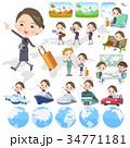 女性 美容部員 旅行のイラスト 34771181