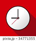 Clock icon, Vector illustration, flat design EPS10 34771355