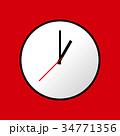 Clock icon, Vector illustration, flat design EPS10 34771356