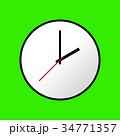 Clock icon, Vector illustration, flat design EPS10 34771357