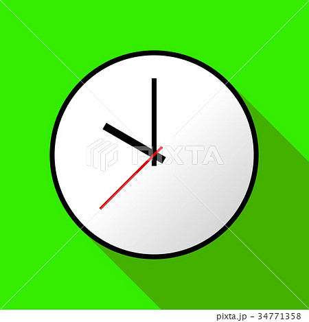 Clock icon, Vector illustration, flat design EPS10 34771358