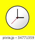 Clock icon, Vector illustration, flat design EPS10 34771359