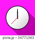 Clock icon, Vector illustration, flat design EPS10 34771363