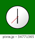Clock icon, Vector illustration, flat design EPS10 34771365