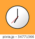 Clock icon, Vector illustration, flat design EPS10 34771366