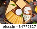 チーズ 板 木製の写真 34772827