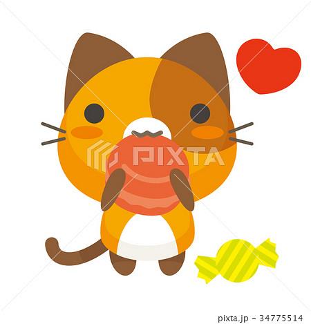 ネコとーく。三毛猫+グルメ 34775514