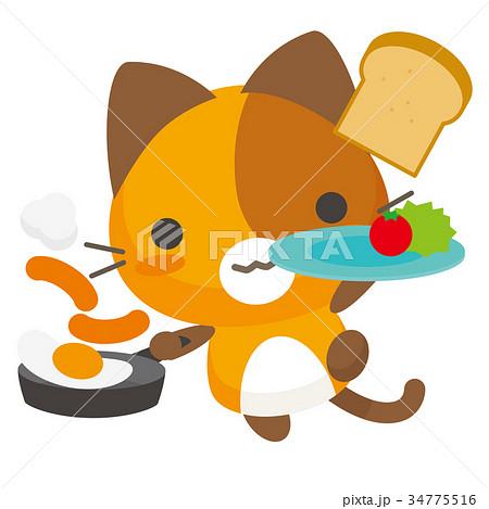 ネコとーく。三毛猫+グルメ 34775516