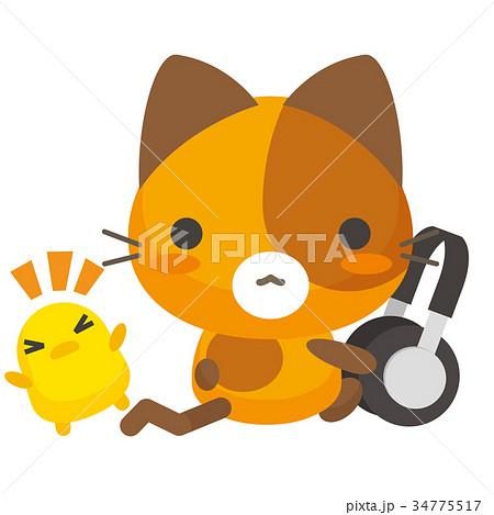 ネコとーく。三毛猫+ヘッドフォン 34775517