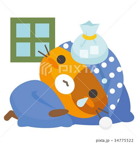 ネコとーく。三毛猫+パジャマ 34775522
