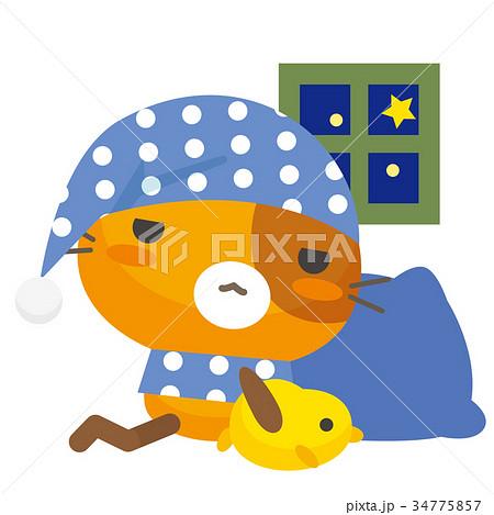 ネコとーく。三毛猫+パジャマ 34775857