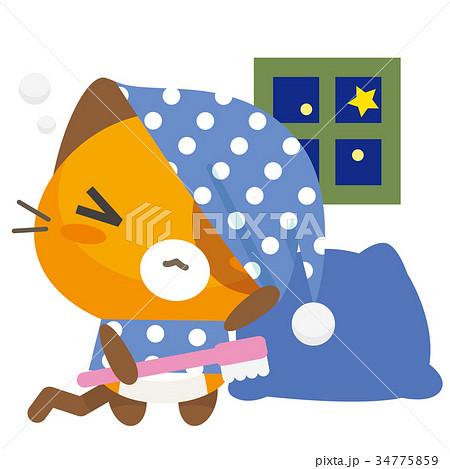ネコとーく。三毛猫+パジャマ 34775859