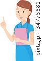 ベクター 女性 看護師のイラスト 34775881