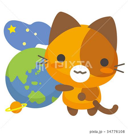 ネコとーく。三毛猫+地球 34776108