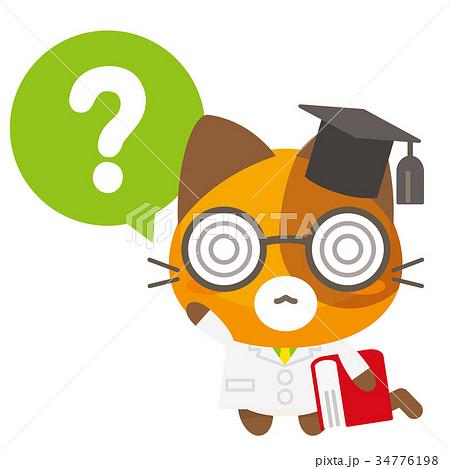 ネコとーく。三毛猫+疑問符 34776198