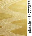 天の川 流線 和風のイラスト 34777277