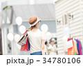 ショッピング 女性 買い物の写真 34780106