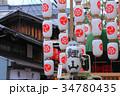 京の街並みと祇園祭の山車 34780435