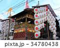 京の街並みと祇園祭の山車 34780438