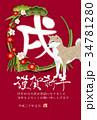 戌 松竹梅 犬のイラスト 34781280