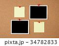 コルクボード,フォトプリント,書類, 34782833