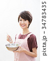 ショートヘア 女性 若いの写真 34783435